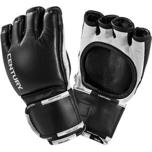 Century Creed Thumbless Open Palm Wrist Wrap MMA Fight Gloves - Black/White