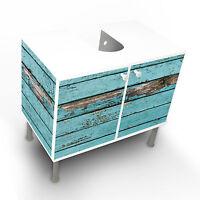 Design Waschbeckenunterschrank Schrank Waschtisch Unterschrank Blaue Holzlat Bad