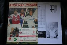 Arsenal v Parma 1994 European Cup Winners Cup Final Programme and Ticket