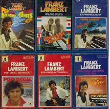8 x MC Franz Lambert Pop Orgel Hitparade 5 + 6 + 7 u.a Titel auf 2. Foto
