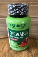NATURELO Chewable Multivitamin for Children  - Whole Food, 60 Tablets Exp 09/22