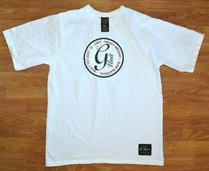 G UNIT * Built To Last *  Heavyweight * Raw Material * White T Shirt Mens L