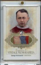 ITG Captain C Vintage Mem Montreal Canadiens Jersey Gold 1/1 George Hainsworth