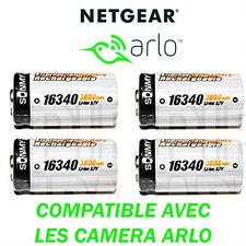 4 PILES RECHARGEABLE CR123A 16340 3600mAh Li-ION IDÉAL POUR LES CAMERA ARLO