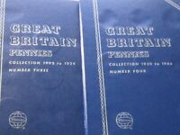 GREAT BRITAIN LARGE PENNY'S 1877-1966 (31 Coins) w/ New Folders - Lot# 2020-129