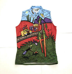 VINTAGE Sugoi sleeveless unique forest graphic art 90s 2000s women's L CANADA