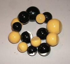 ZSISKA Polyresin BUBBLE Stretch Bracelet - black & yellow - Designer Signed