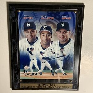 "The New York Yankees ""Big 3"" - Jeter, Williams, Giambi : Plaque 13x10 (2003)"