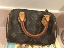 100% Authentic LOUIS VUITTON Mini Speedy Monogram Canvas Bag