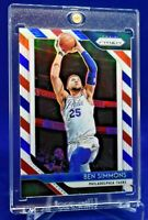 BEN SIMMONS RED WHITE & BLUE REFRACTOR PRIZM PARALLEL BEAUTY SP RARE