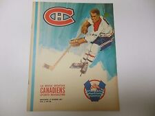 MONTREAL CANADIENS LA REVUE SPORTIVE PROGRAM 1971 VS NEW YORK RANGERS 2/17 RARE