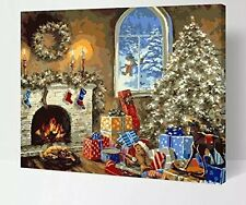 Diy oil Painting Paint by Numbers Kits for Adult -W207 Christmas Gift