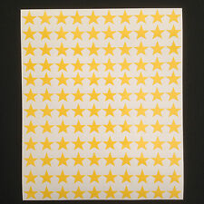 350 x Yellow Star Shape Peel and Stick Self Adhesive Vinyl Stickers 15 mm