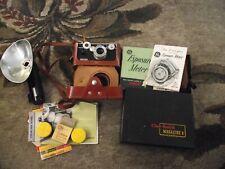 Lot Of 2 Vintage Cameras and & Accessories , Argus & Kodak & Ge
