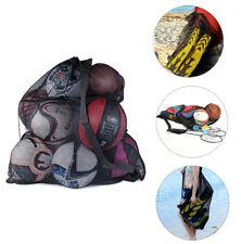 Extra Large Mesh Sports Ball Bag Drawstring With Shoulder Strap Balls Organizer