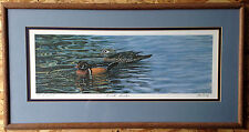 Wood Ducks by Ed Newbold, Framed and Matted, number 77 of 1200