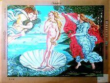 "Needlepoint tapestry canvas.The Birth of Venus by Sandro 28x36"" Gobelin L 17.192"