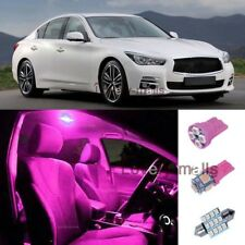 13 Pink Dome/Tag Lights Interior LED Package Kit For Infiniti G37/Q50 2008-2014