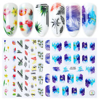 3D Nail Stickers Transfer Decals Colorful Flower Mixed Nail Art Decoration Tips
