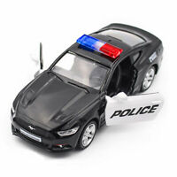 Ford Mustang GT 2015 Police Car 1:36 Model Car Diecast Toy Kids Gift Pull Back