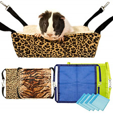 4Pack Guinea Pig Hammock, Small Animal Hanging Bed Pet Cage Hammock for Hamster