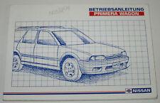 Betriebsanleitung Nissan Primera Wagon Kombi Typ P10 / W 10 Stand 08/1990!