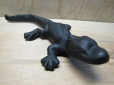 Vintage Cast Iron Figural Monon Route Alligator Railroad Advertising Paperweight