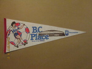 NASL B.C.Place Vintage Home of the Vancouver Whitecaps Logo Soccer Pennant
