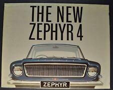 1963 Zephyr 4 English Ford Sales Brochure Folder Nice Original 63