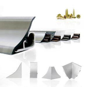 ABSCHLUSSLEISTE 150cm - 300cm Winkelleisten Küche Wandabschlussleisten 23mm