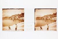 Montagne Lac Neige Foto Placca P45L4n9 Lente Positivo Stereo