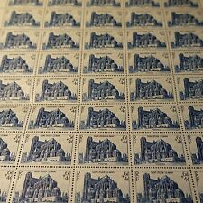FEUILLE HOJA DE LA CATEDRAL DEL MANS Nº775 x50 1947 NEUF LUXE MNH CARA