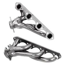 For Ford F-150 87-95 Mild Steel Black Painted Short Tube Exhaust Headers