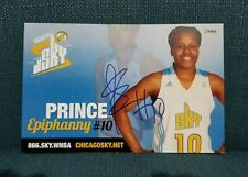 "Autographed Epiphanny Prince 2011 Wnba 5 1/2 "" x 8 1/4 "" Photo Card Chicago Sky"