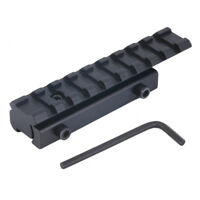 Tactical Scope Mount Dovetail Weaver Picatinny Rail Adapter Extend 11mm to 20mm