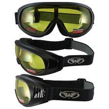 Burning Man Trump Motorcycle Goggles Yellow Lens Riding Offroad MX Motocross ATV