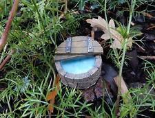 Miniature Fairy Garden Wishing Well hot tub for garden faeries pots fairy house