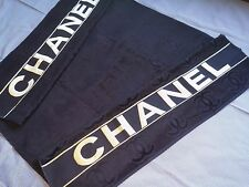 new  large beach towel embroidered black color soft cotton