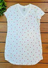 Ralph Lauren Nightgown LRL Pajama Sleepshirt Cream Pink Floral Large Q