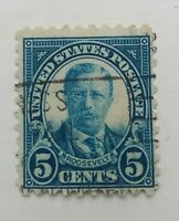 usa. 1922 5c Roosevelt. Zähung 10 oben und unten. Perf 10 at Top and Bottom.