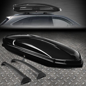 FOR 14-19 ACURA MDX ROOF TOP CARGO STORAGE LUGGAGE BOX CASE W/ALUMINUM CROSS BAR