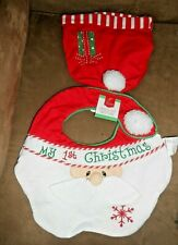 New listing Home Elements My 1st Christmas Santa Hat with Bib New