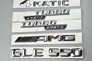 GLE GLE550 Turbo Aufkleber Deckel Emblem Abzeichen Schriftzug Badge Chrome