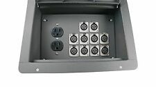 Elite Core FBL10+AC Recessed Stage Floor Box w/10 XLR-F + Duplex AC Power Outlet