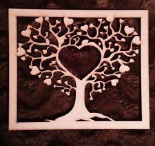 Árbol de Madera Forma de Corazón de MDF de 240 Mm x 200 mm Marco De Corte Láser
