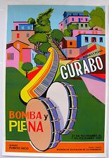 Vera Cortes Poster Serigraph Bomba Plena Escaleras d Gurabo DIVEDCO Puerto Rico