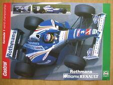 Poster Rothmans Williams Renault FW19 1997 #3 jacques Villeneuve (CAN)