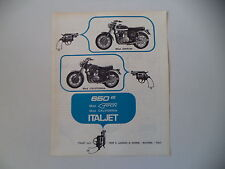 advertising Pubblicità 1970 MOTO ITALJET 650 GRIFON/CALIFORNIA