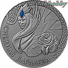 Belarus 2005 silver 20 ru. The Snow Queen Flowers Blumen Fairy Tales