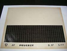 Ersatzteil Mikrofilm Planfilm Microfiche Peugeot J7 v. Mai 1977